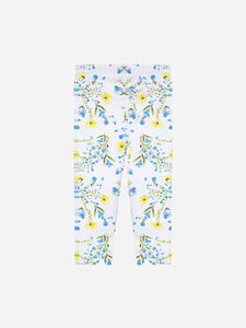 Patachou Jersey White Leggings With All Over Print