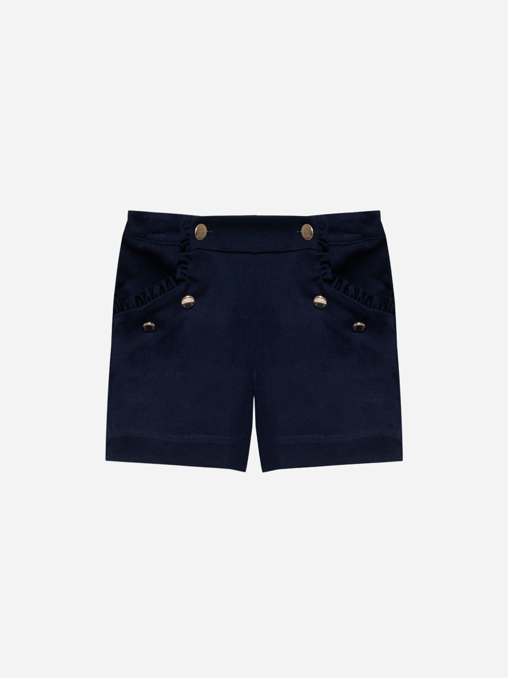 Patachou Cotton Sarga Navy Shorts