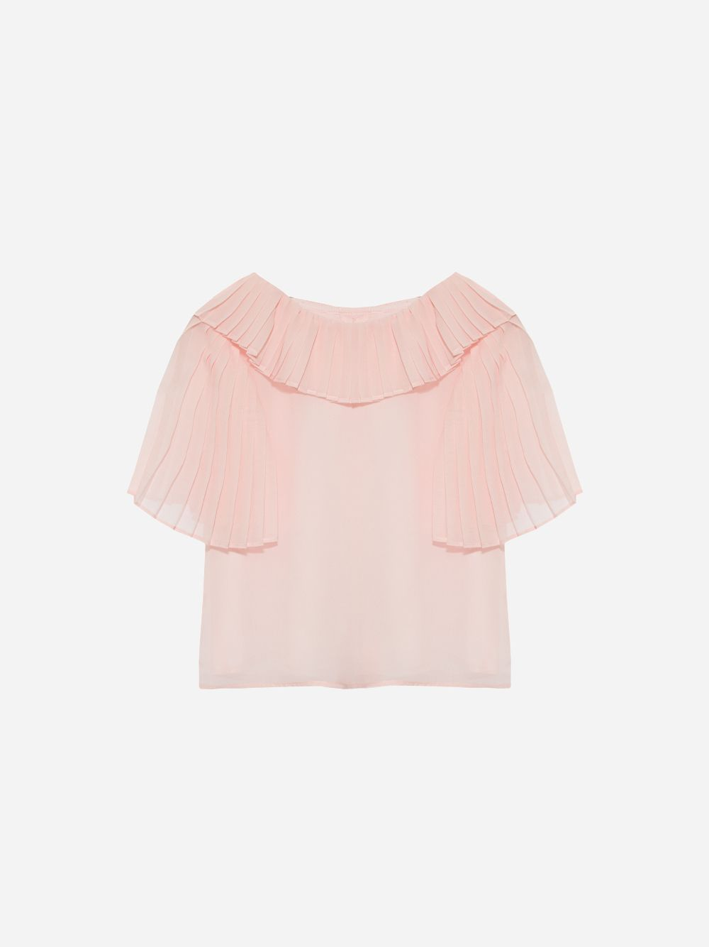 Patachou Chiffon Pale Pink Blouse