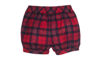 Patachou Christmas Red Tartan Shorts