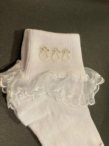 Little People Girls Communion Socks 5161
