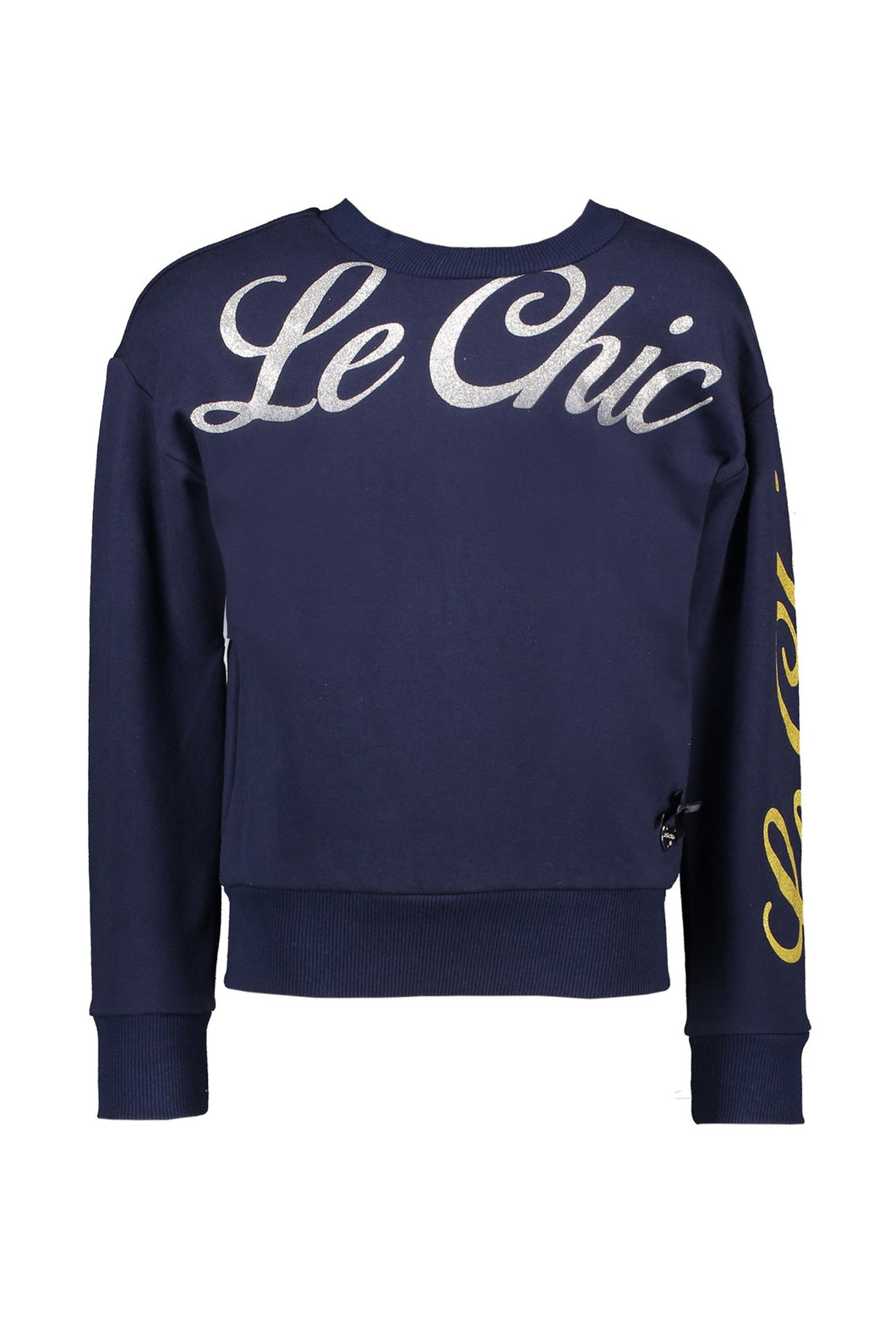 Le Chic Girls Navy Logo Sweatshirt