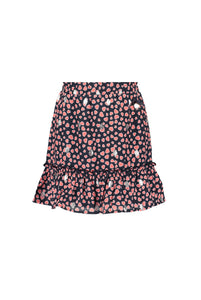 Le Chic Girls Navy & Pink Heart Skirt