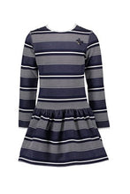 Load image into Gallery viewer, Le Chic Girls Navy Stripe Dress