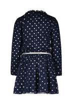 Load image into Gallery viewer, Le Chic Girls Navy And Sliver Hearts Dress