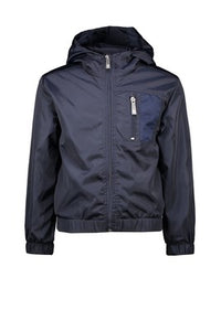 Le Chic Garcon Boys Bomber Jacket With Mesh Pockets - Blue Navy