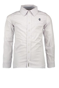 "Le Chic Garcon Boys Shirt All-Over ""Summer Breeze"" - White"