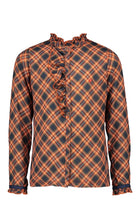 Load image into Gallery viewer, NONO Girls Orange and Navy Checked Shirt
