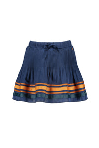 NONO Girls Blue Crepe Skirt