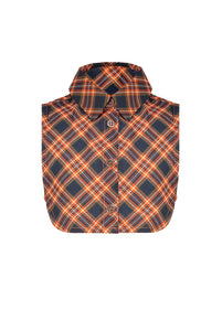 NONO Girls Orange Checked Collarette