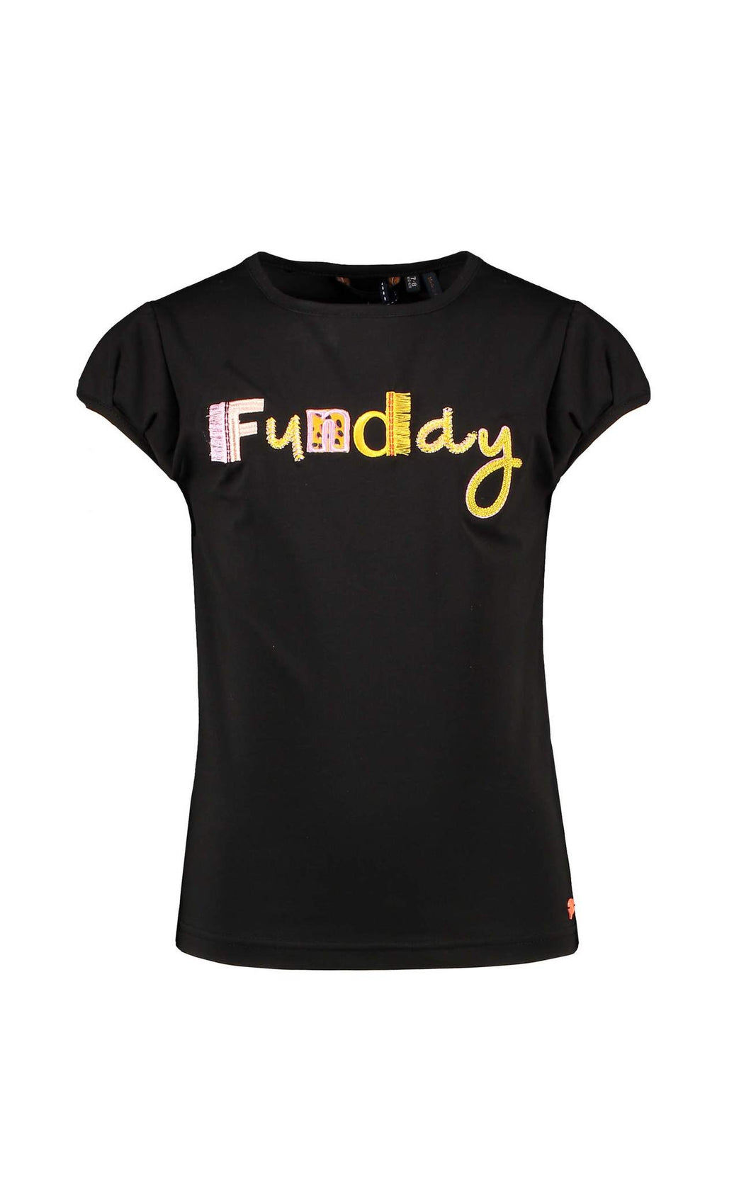 NONO Girls Black Funday Logo T-Shirt