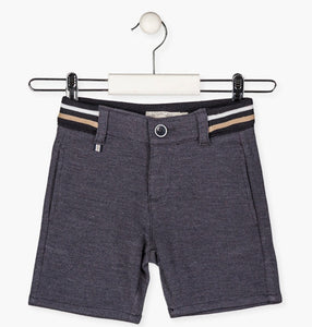 Losan Boys Striped rib-knit waist shorts.