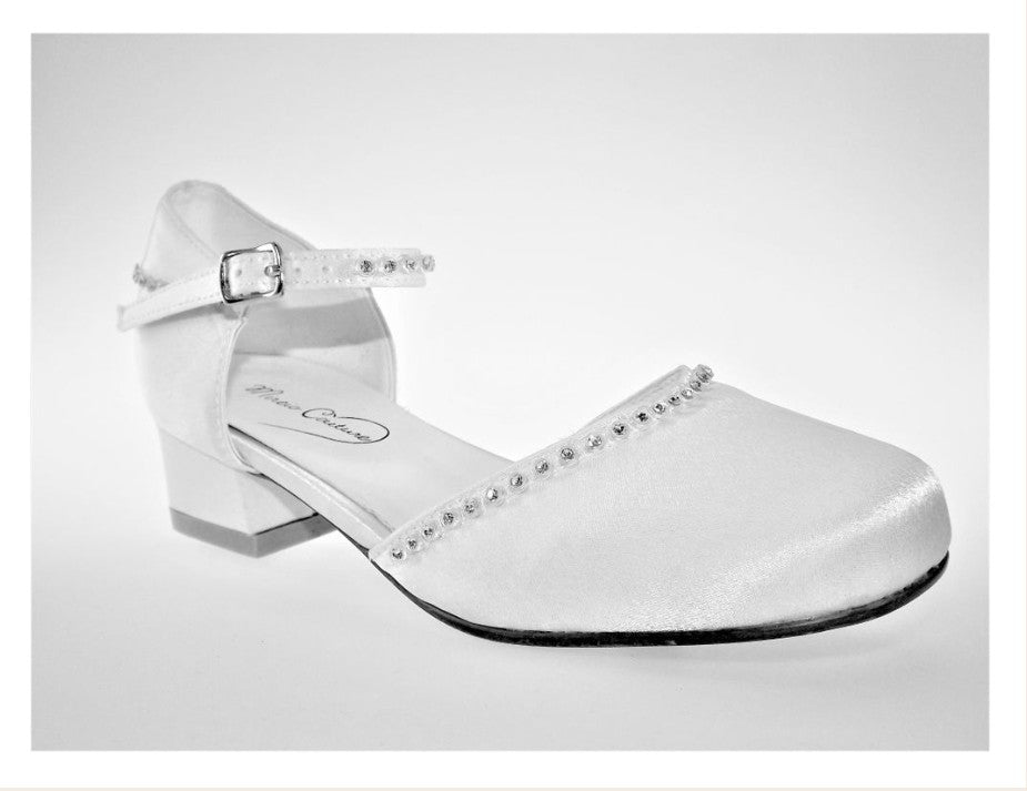 Celebrations Girls White Communion Shoes:- Maria