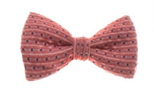 One Varones Boy Pink Bow Tie With Navy Spot