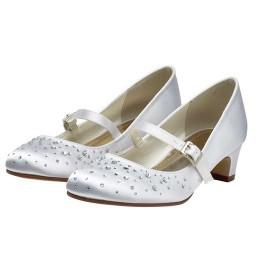 Rainbow Club 'Cherry' Sparkly Bar Style Girls Communion Shoes