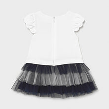 Load image into Gallery viewer, Mayoral Combined knit and tulle dress for baby girl