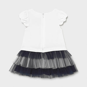 Mayoral Combined knit and tulle dress for baby girl