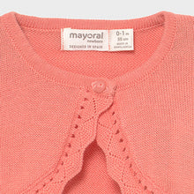 Load image into Gallery viewer, Mayoral ECOFRIENDS basic cardigan for newborn girl