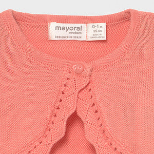 Mayoral ECOFRIENDS basic cardigan for newborn girl