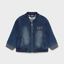 Load image into Gallery viewer, Mayoral ECOFRIENDS organic cotton soft denim bomber jacket for baby boy