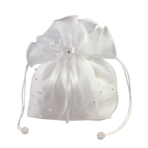 Linzi Jay Girls Organza Dolly Bag with Pearl and Diamante LD17