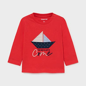 Mayoral Long sleeved boat t-shirt for baby boy