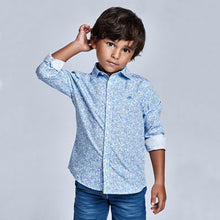 Load image into Gallery viewer, Mayoral Microprint long sleeved shirt for boy