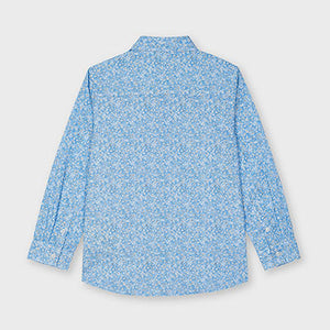 Mayoral Microprint long sleeved shirt for boy