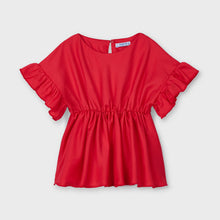 Load image into Gallery viewer, Mayoral Ruffle sleeve blouse for girl