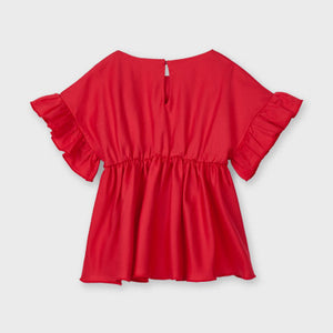 Mayoral Ruffle sleeve blouse for girl