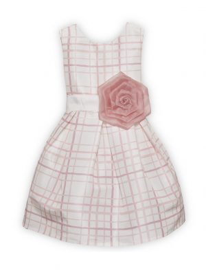 Alice Pi Girls Pink Check Dress