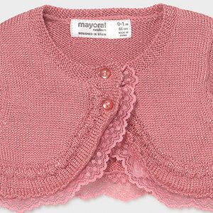 Mayoral Tricot ceremony cardigan for newborn girl