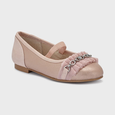 Mayoral Tulle pumps with chain for girl