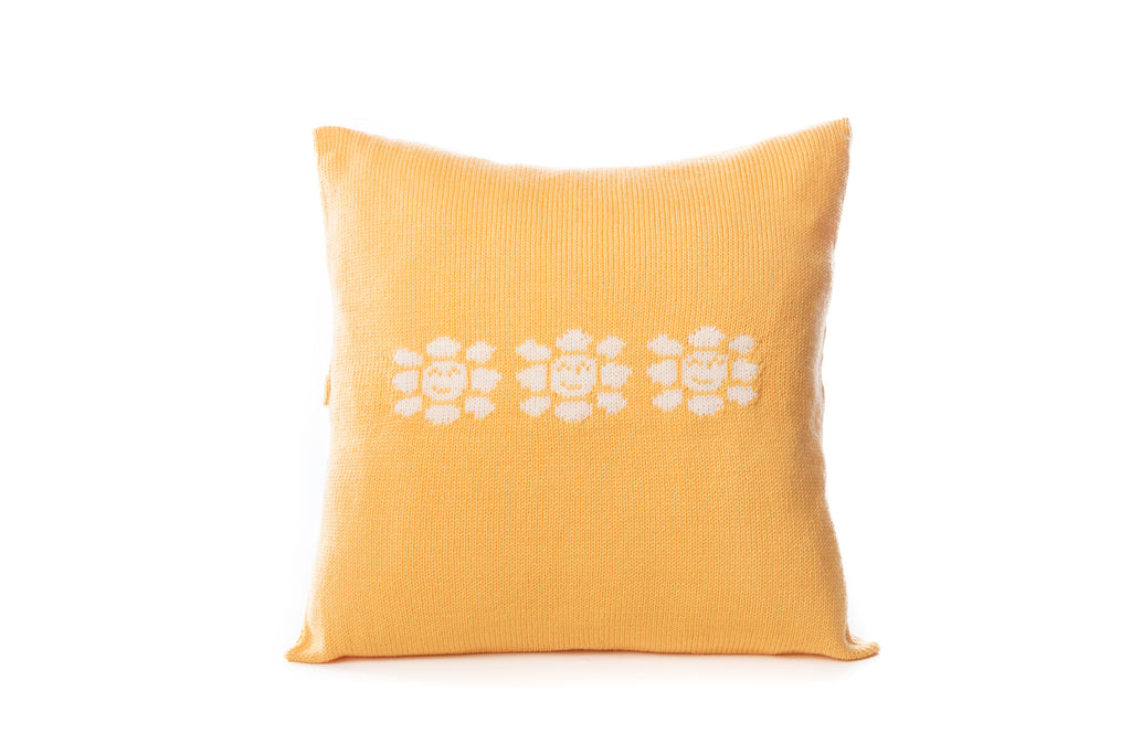 Merino Baby Nursery Cushion - Sunflower