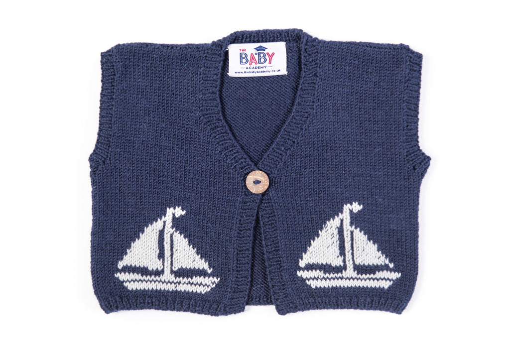 Merino Baby Snug - Sailboat