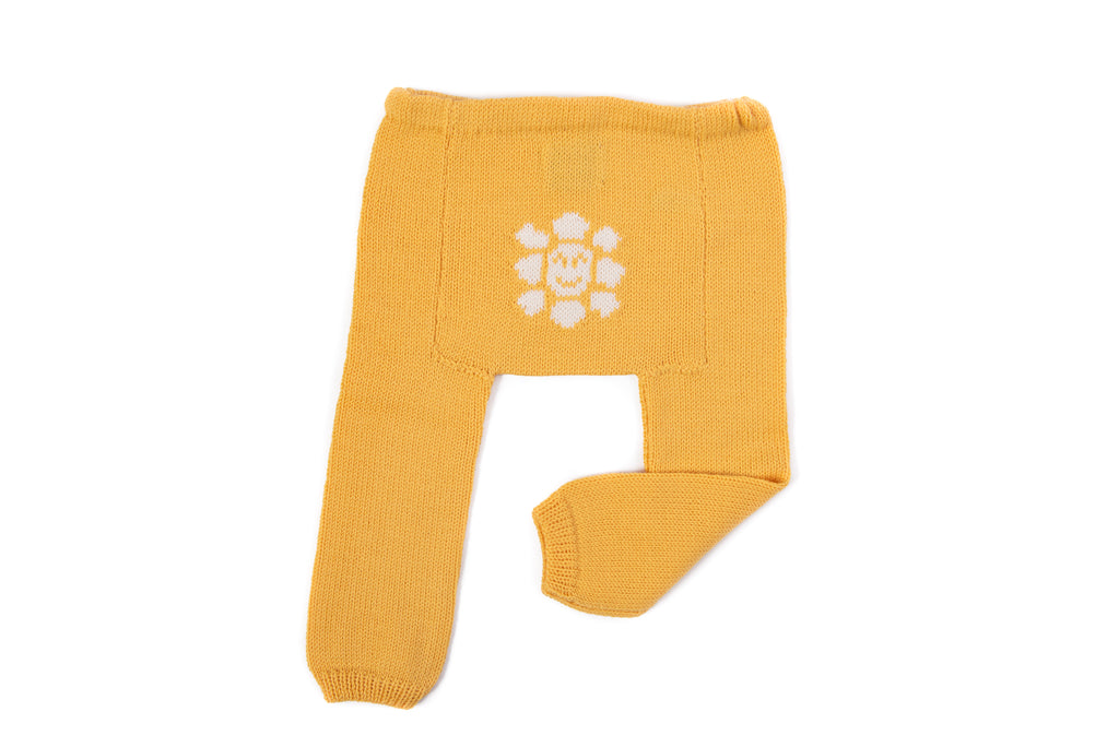 Merino Baby Leggings - Sunflower