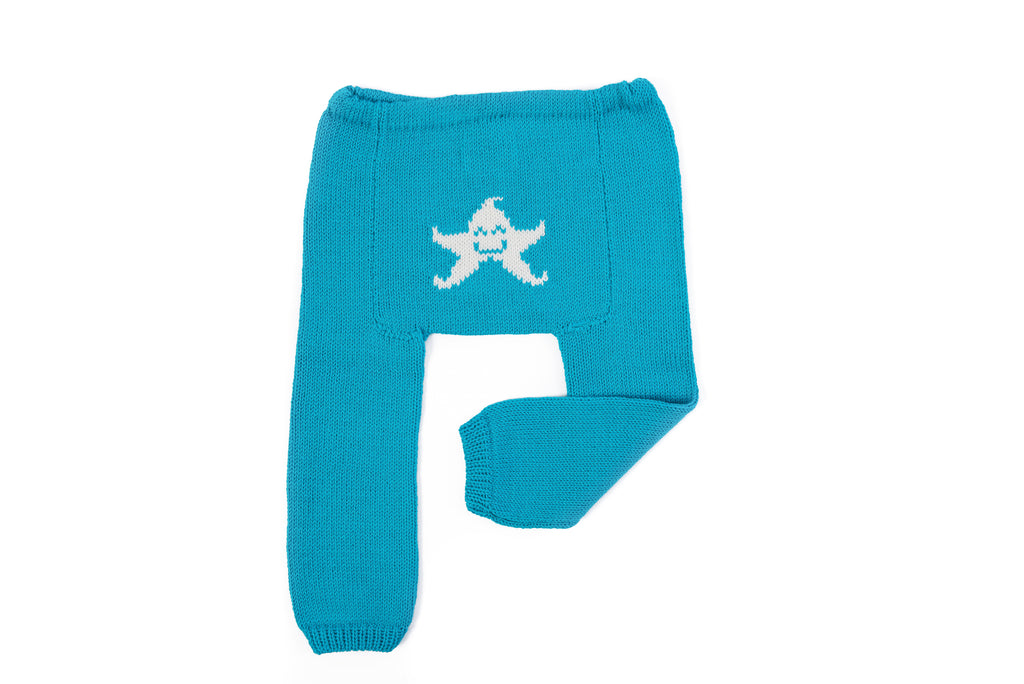 Merino Baby Leggings - Starfish
