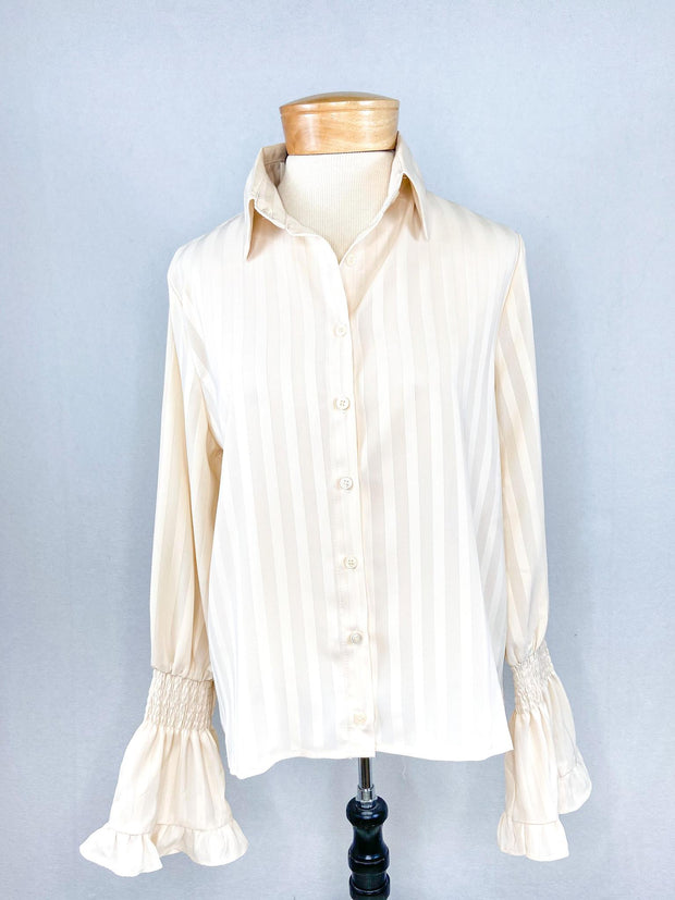 PH Striped Button Top