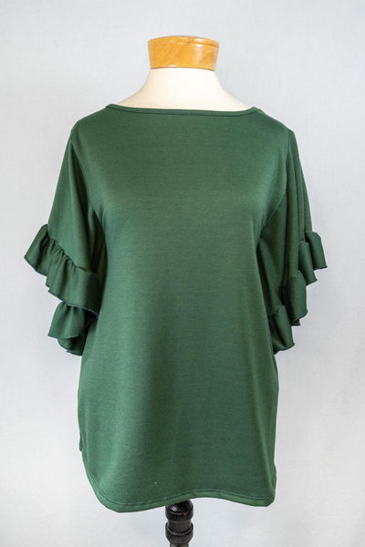 PI Ruffle Sleeve Top
