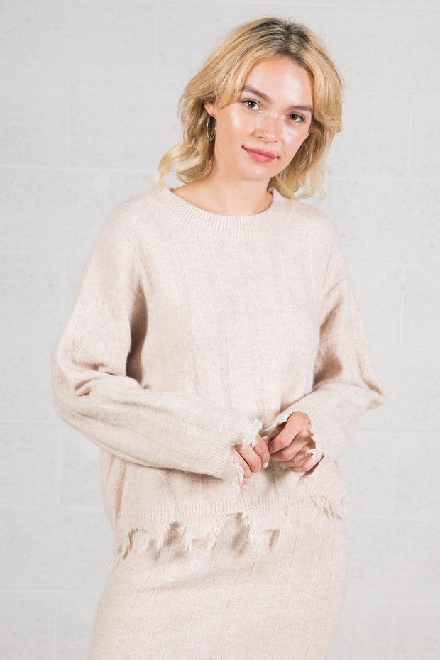 VJ Distressed Sweater
