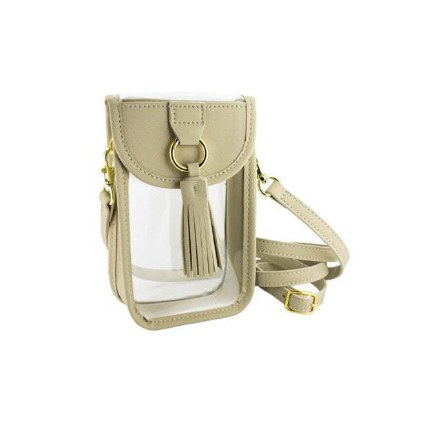 CD Clear Phone Crossbody