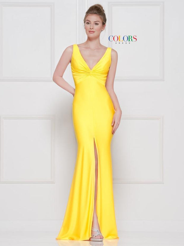 CO Twisted Slit Gown