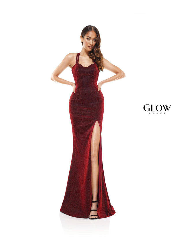 CO Cross-Back Slit Gown