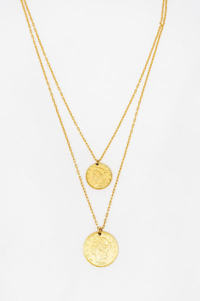 GS Layered Coin Necklace