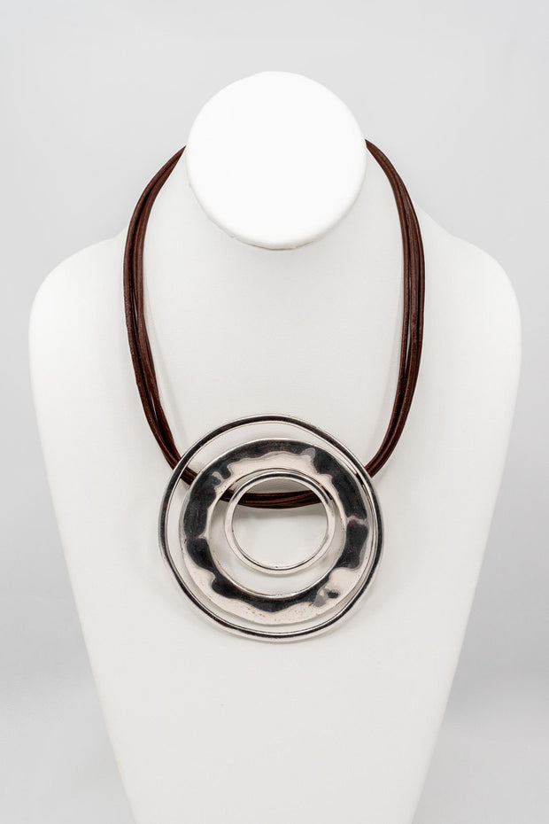 EM Corded Ring Necklace