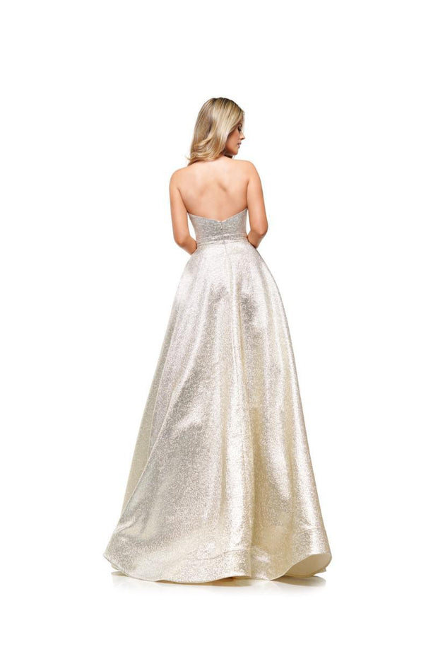 CO A-Line Slit Ball Gown