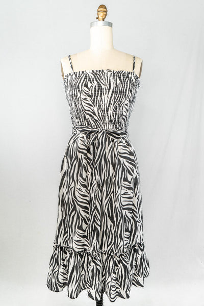PI Smocked Zebra Dress