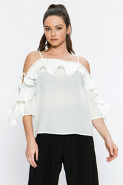 FT Pleated Ruffle Top