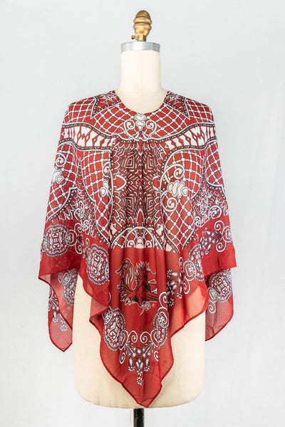 ES Patterned Poncho