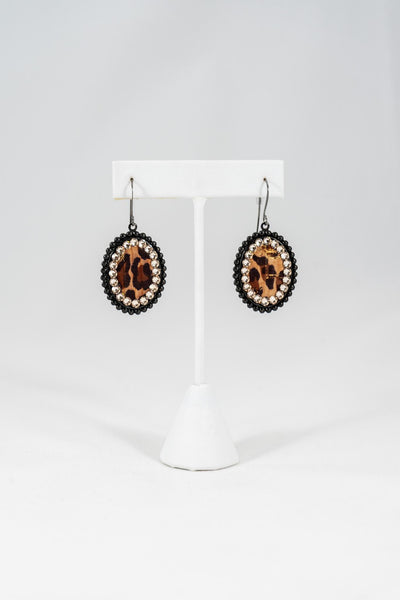 PP Small Crystal Rimmed Earrings